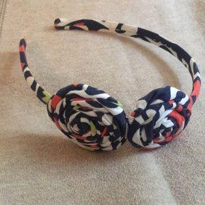 Vera Bradley orange/navy/white headband